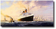 Fairwell America by Robert Taylor - RMS Queen Mary - Maritime Artwork - Decor
