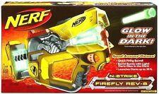Brand New NERF N-Strike FIREFLY REV-8 Dart BLASTER Glow In The Dark