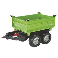 Rolly Toys Deutz Mega-Trailer Kipper Anhänger Dreiseitenkipper grün