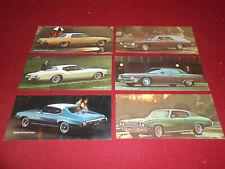 1972 BUICK 6 ORIGINAL PROMOTIONAL CARDS / 72 BROCHURE SKYLARK RIVIERA ELECTRA ++