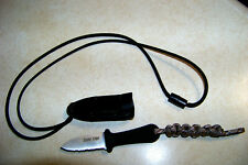 COLD STEEL MINI NECK KNIFE (Super Edge) 42SS Paracord Lanyard  USA Seller