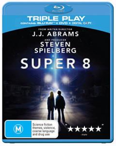 SUPER 8 BLU RAY AND DVD 2 DISCS STEVEN SPIELBERG REGION B AUSTRALIAN LIKE NEW