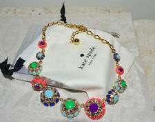 """NWT $248 Kate Spade """"Putting on the Ritz"""" Short Colorful Floral Necklace"""