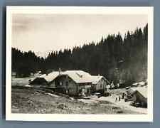 Suisse, Au Col du Jaun (Jaunpass) Vintage silver print. Switzerland. Schweiz.