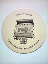 Vintage ROBINSONS - INN SIGNS - THE BULL - Cat No'116 - Beermat / Coaster