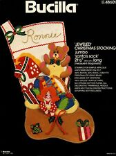 "Bucilla Santa's Sack ~ 21 1/2"" Jumbo Felt Christmas Stocking Kit #48601, Toys"
