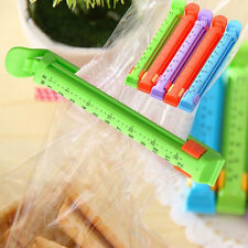 5bags Kitchen Date Sealing Clips Seal Plastic Bags Snack Food Clip Sealer GD
