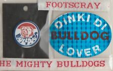 AFL- FOOTSCRAY /TEAM SUPPORTERS /METAL BUTTONS,DUFFLE COAT TAGS & BUMBER STICKER