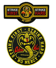 "Karate Kid Cobra Kai Strike First Strike Hard 4/"" Diameter Set of 3 Patches"