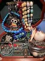 Jewelry Lot Vintage Bohemian Wholesale Brooch Necklace Bracelet Ring More JB327