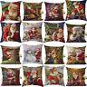 "18"" Christmas Pillow Cover Xmas Santa Claus Sofa Car Throw Cushion Cover Gifts"