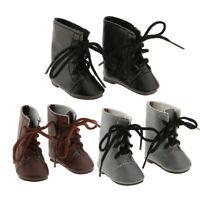 3 pares de zapatos de moda atan para arriba las botas para la muñeca de 14
