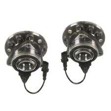 For Saab 9-3 9-3X Set of 2 Rear Wheel Hub With Bearings and Sensors Fag 93186387