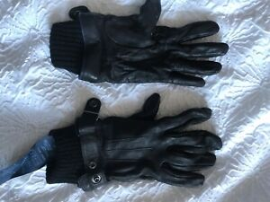 Armani Jeans Leather Gloves Mens