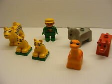 Lego DUPLO lot ZOO ANIMALS FIGURES tiger, baby tigers,horse cow,dino, guardian