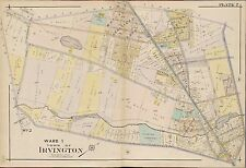 1906 IRVINGTON, ESSEX COUNTY, NEW JERSEY, CLINTON CEMETERY, COPY PLAT ATLAS MAP