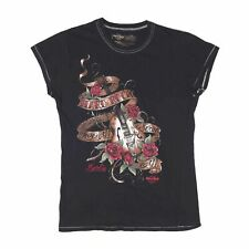 Vintage HARD ROCK BERLIN Black T-Shirt Size Womens Large
