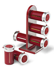 zevro spice rack 6pc magnetic countertop spice stand set red #crzyj