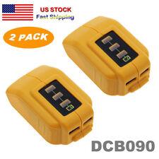 2 Pack 12V/20V Max USB Power Source for Dewalt DCB090 Cordless Phone USB Charger