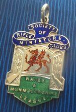 Argento E Smalto Society in miniatura FUCILE Club Galles monouthshire MEDAGLIA di tiro