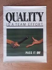 Poster Vintage conciencia de atención al cliente-Calidad es un trabajo de equipo