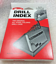 "Huot Machinists Toolmakers 1/16"" to 1/4 by 64ths  Drill Case  Index - Box U.S.A."