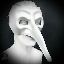 Plague Doctor Full Face Mask Steampunk Halloween Costume Masquerade Long Nose