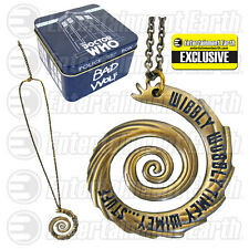 Doctor Who Wibbly Wobbly Vortex Gold Necklace - EE Exclusive