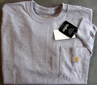 Carhartt K126 Long Sleeve Workwear Pocket T-Shirt - Heather Gray  LG