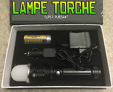 LAMPE TORCHE 4000 LUMENS LED CREE 3 MODES FLASHLIGHT + PILE CHARGEUR - HOT