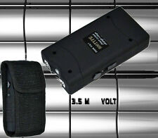 Black Self Defense Kit w/ Stun Gun and Keychain Pepper Spray