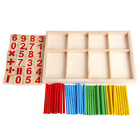 Math Manipulatives Wooden Counting Sticks Baby Kids Preschool Educational Toy