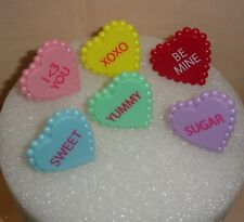 Hearts,Sweet Talk,Cupcake Ring,Plastic,DecoPac,Pink,1.25,Valentines,Topper