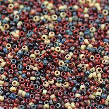 Exclusive!!! 11/0 Corn Harvest Picasso Mega Mix Miyuki seed beads - 20grams