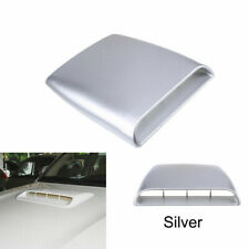 Silvery Car Air Flow Intake Hood Scoop Bonnet Vent Cover Universal Fit BMW Ford