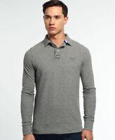 New Mens Superdry Classic Pique Polo Shirt Quarry Grey Grindle