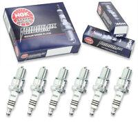 6 pc 6 x NGK Iridium IX Plug Spark Plugs 5044 BR8EIX 5044 BR8EIX Tune Up Kit cv