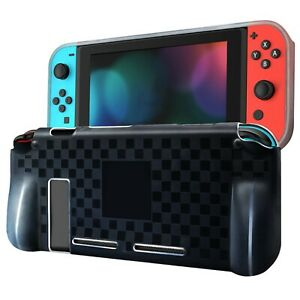 Comfort Grip Protective Case for Nintendo Switch - Checkered Black