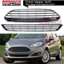 For Ford Fiesta 2014 15 2016 Chrome Front Bumper Center UPPER+LOWER Grill Grille