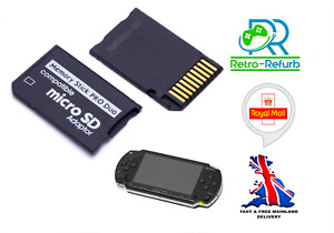 Sony PSP Pro Duo Memory Card Adapter Micro SD TF Converter - Fast Free Post