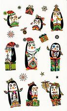 Mrs. Grossman's Turnowsky Stickers - Festive Penguins - Christmas - 2 Strips