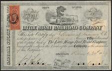 USA: Little Miami Railroad Co., $50 shares, 1868