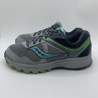 Saucony Grid Cohesion 10 Running Shoes Grey Blue S15364-10 Women's Size 7.5 Wide