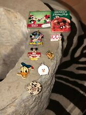 Rare Lot Of Disney Pins & Buttons: Tsum Tsum, D23 Mickey & Minnie, Christmas