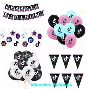 Tik Tok birthday party Decorations Tik Tok party supplies party balloons banners