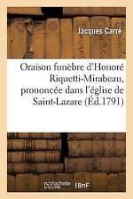 Oraison Funebre d'honore Riquetti-Mirabeau, prononcee dans l'eglise de..