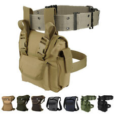 Waterproof Fanny Pack Tactical Military Drop Leg Bag Hip Belt Waist Pack Hiking