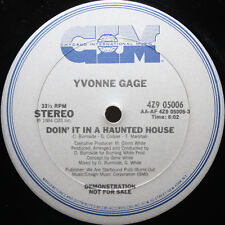 "Yvonne Gage 12"" Doin It In A Haunted House Halloween Michael Jackson Thriller"