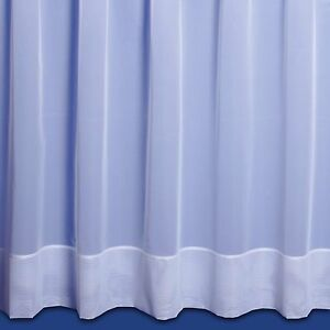 Jayne Plain Hemmed Net Curtain - Sold By The Metre - Finished in White
