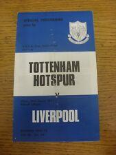 25/04/1973 UEFA Cup Semi-Final: Tottenham Hotspur v Liverpool  (folded). Unless